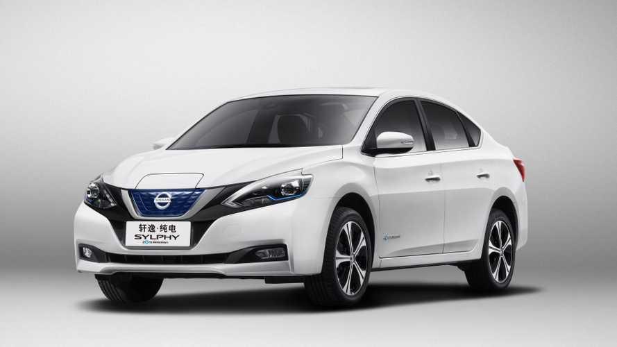 Nissan Debuts LEAF-Based 210-Mile Electric Sylphy