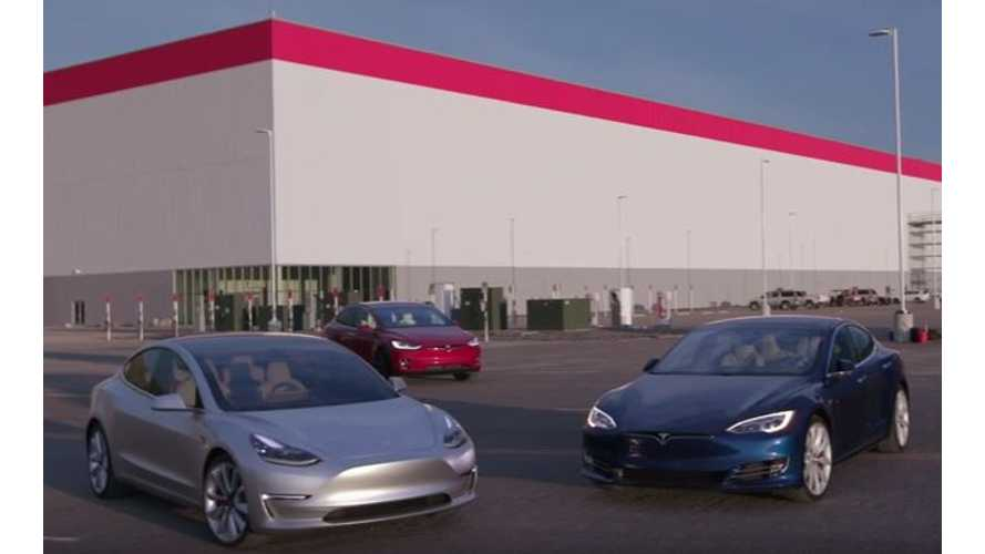 Tesla Model S, 3, X And Gigafactory All Captured In One Video Report