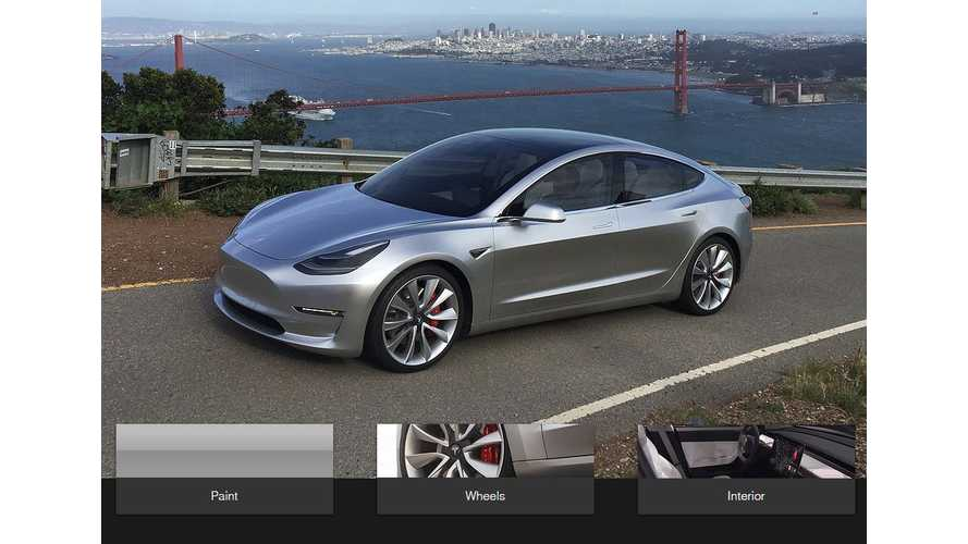 "Configure Your ""Unofficial"" Tesla Model 3 Here"