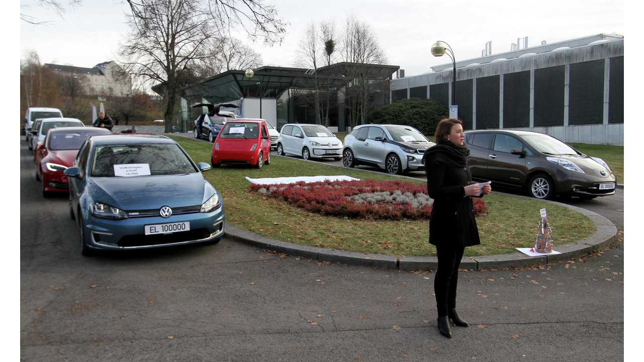 Norway Passes 100,000 All-Electric Vehicles On The Road Today