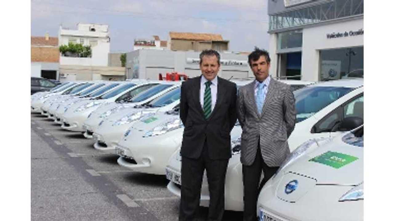 40 Nissan LEAFs Join Spanish Rental Fleet