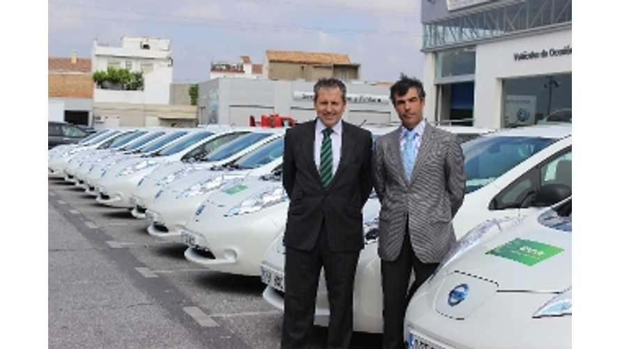 40 Nissan LEAFs Join Spanish Rental Fleet