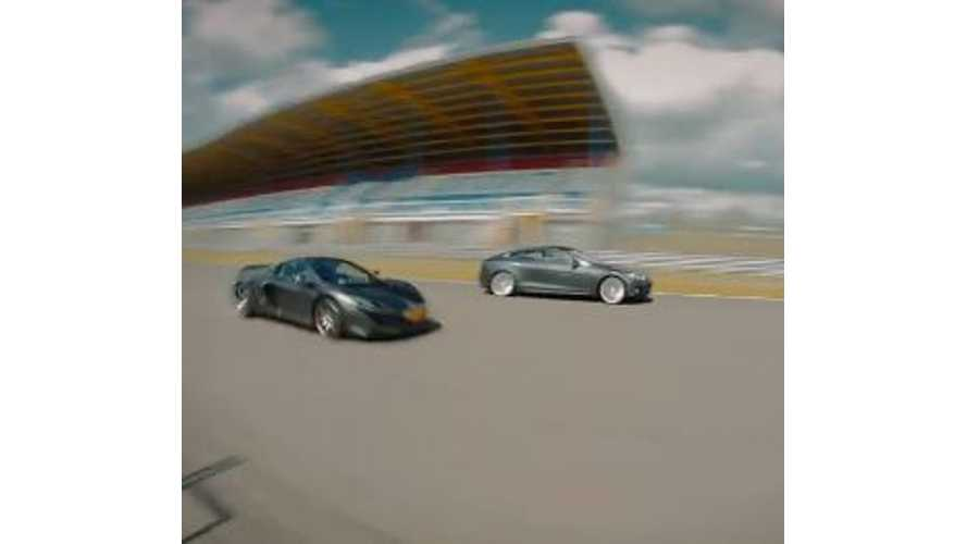 Tesla Model S P85D Smokes McLaren 650 S - Race Video