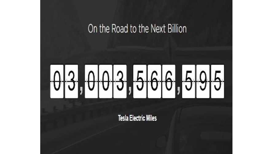 Global Tesla Fleet Surpasses 3 Billion Collective Miles Driven