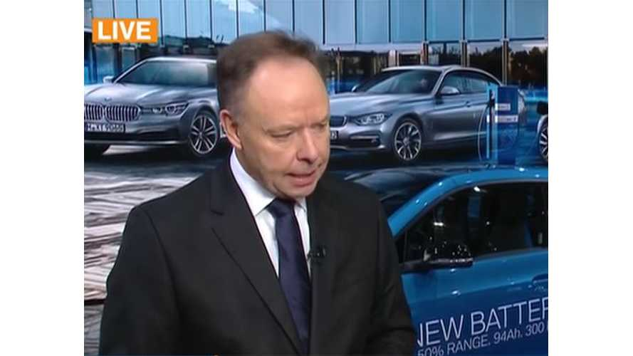 BMW Sales Chief Discusses Electric Cars At Paris Motor Show - Video Interview