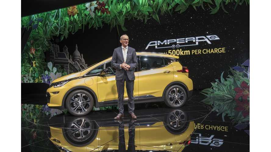 Opel CEO: We Drove The Ampera-E 259 Miles To Paris Motor Show To Prove Its Real-World Range