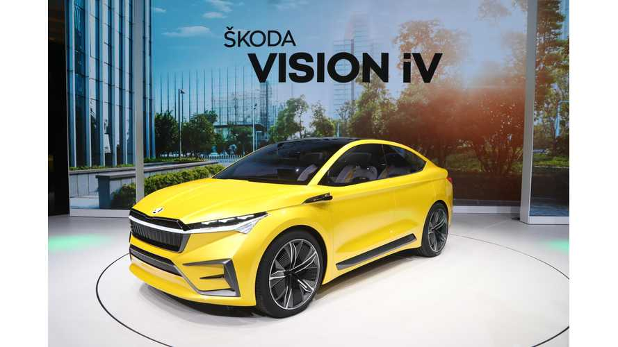 Škoda Vision iV Concept Previews Future Crosover EV (Photos/Videos)