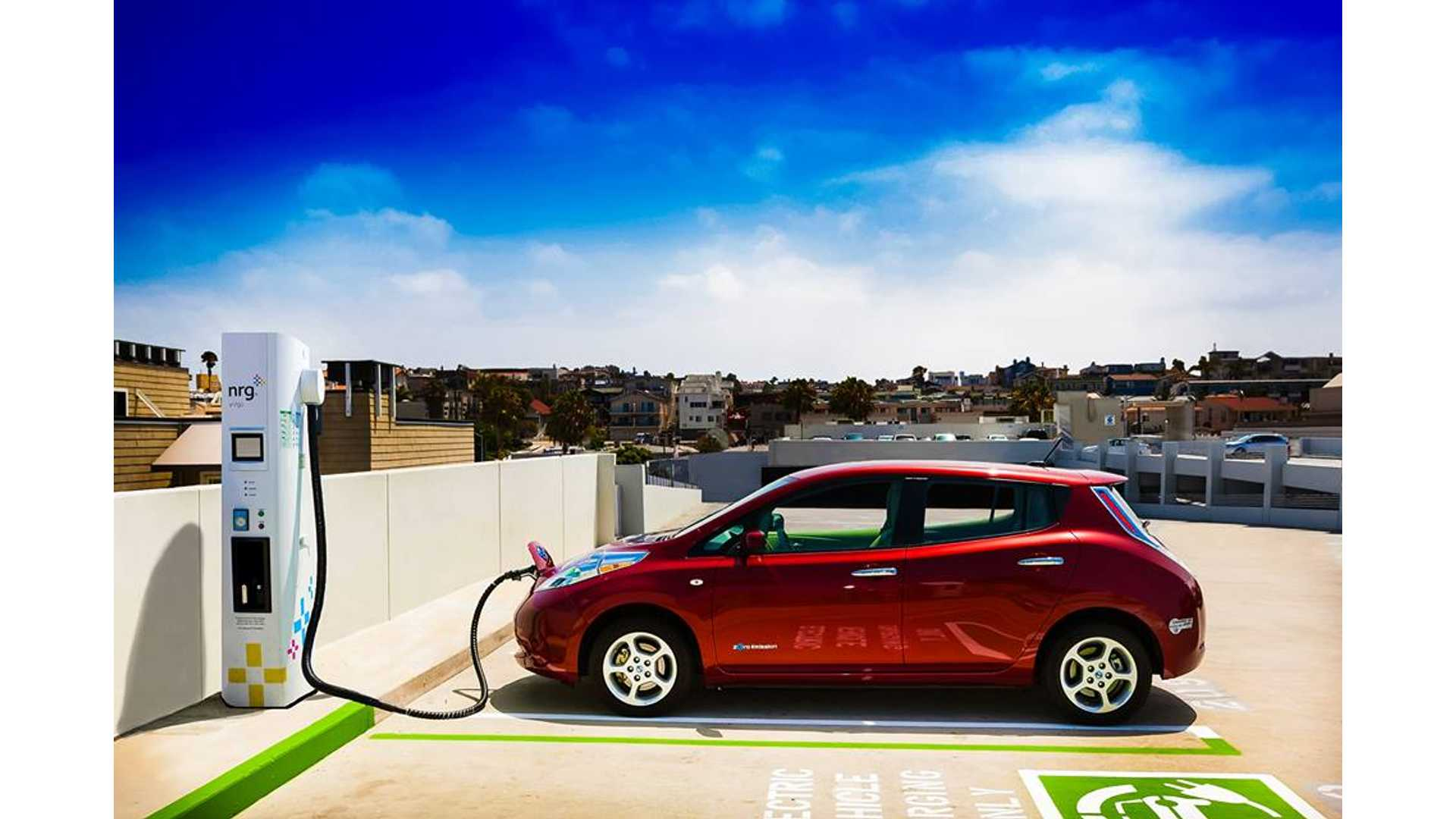 Nissan Says Charging Stations Will Outnumber Gas Stations In