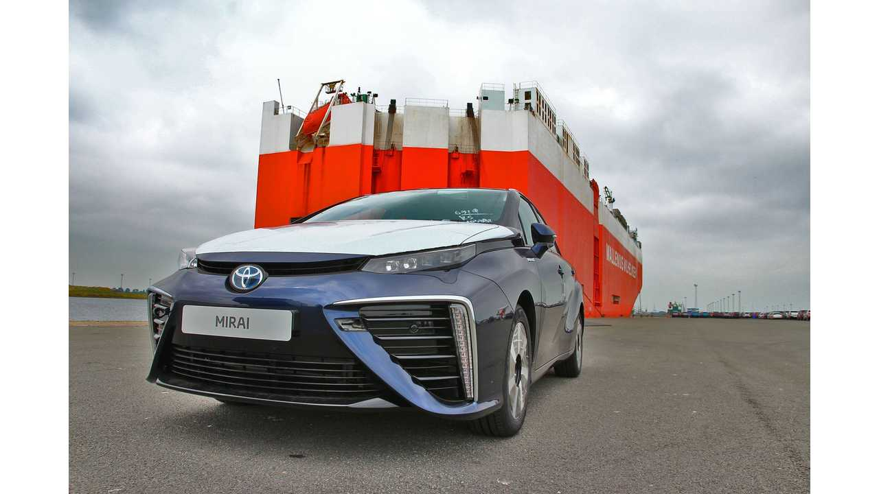 The First 5 Toyota Mirais To Arrive In Europe Are Unlikely To Be Powered By Lemonade...<em>But Then Again,You Never Know</em>