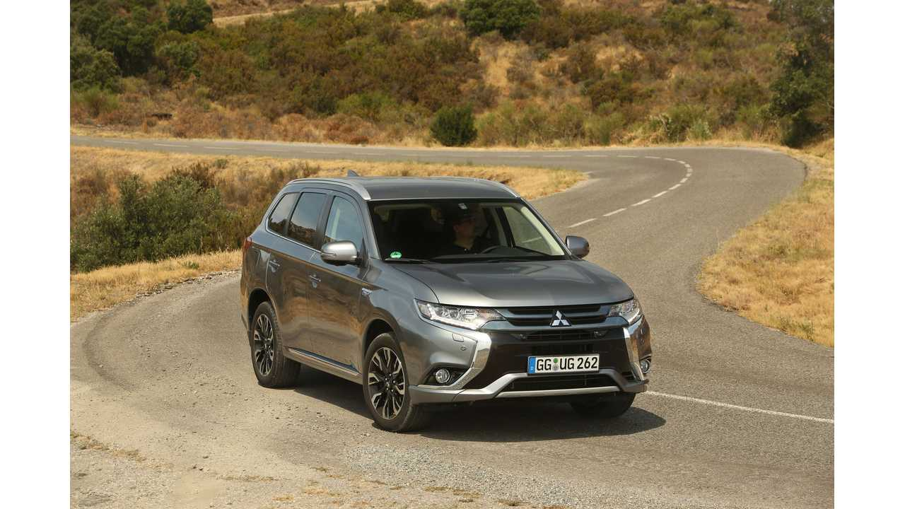 Mitsubishi Announces 2016 Sales Target For Outlander PHEV In U.S.