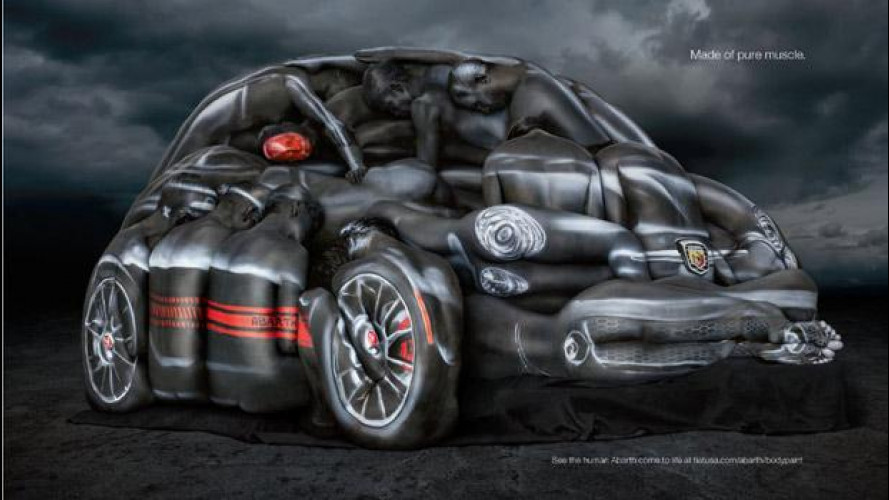 La 500 Abarth Cabrio e l'arte del body-painting