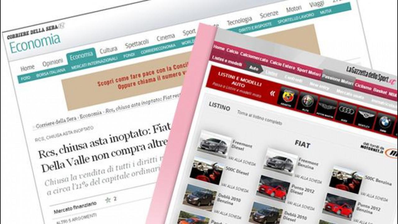 [Copertina] - Fiat: dopo La Stampa, controllerà anche il Corriere della Sera e La Gazzetta dello Sport?