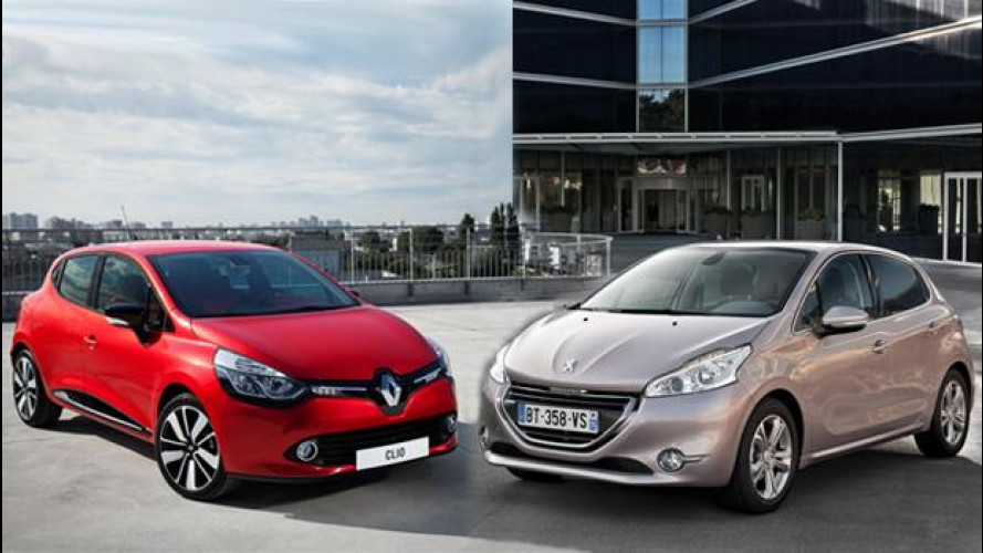 Renault Clio e Peugeot 208, francesi contro