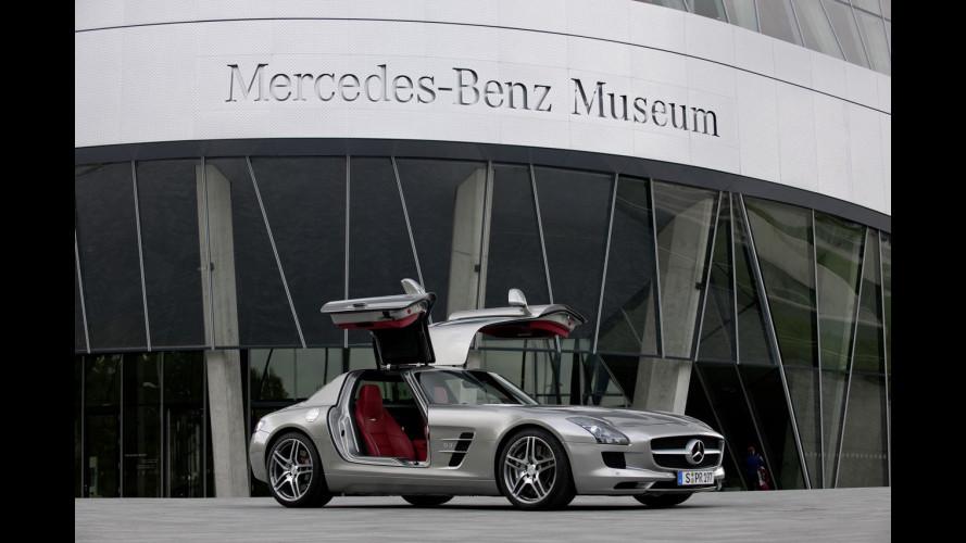 La SLS AMG vola nel Museo Mercedes