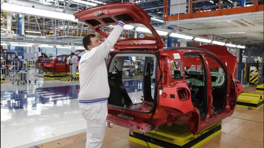 Produzione auto in Italia: nel 2012 crollo del 18,3%