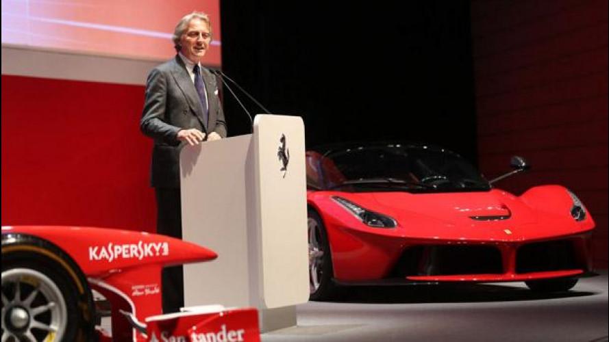 """Montezemolo: """"La Ferrari ha il coraggio di fare meno macchine"""""""