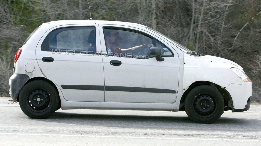 New Chevrolet Matiz Mule Caught Testing