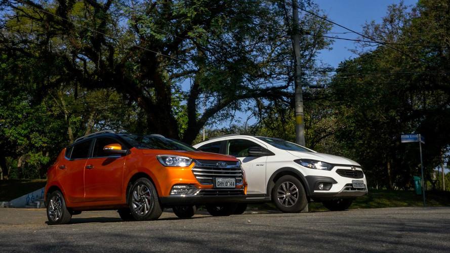 Comparativo JAC T40 1.5 x Chevrolet Onix Activ 1.4 - Imagem é tudo