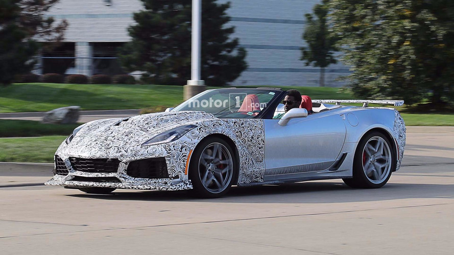 Spy Photos Show Topless Chevrolet Corvette ZR1 Convertible, Coupe