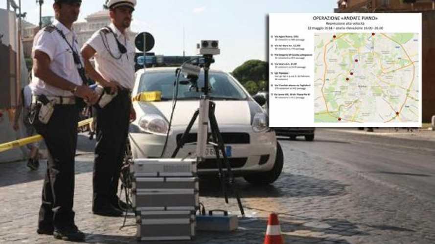 """Andate Piano"": sette nuovi autovelox mobili a Roma"