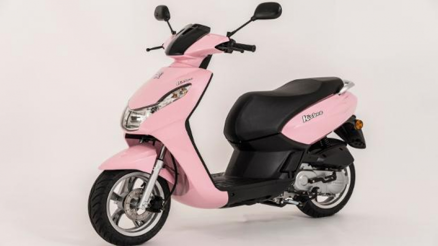 Peugeot Scooters Kisbee 50 4T in colorazione Candy Pink