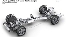 Audi quattro all-wheel drive system with ultra technology