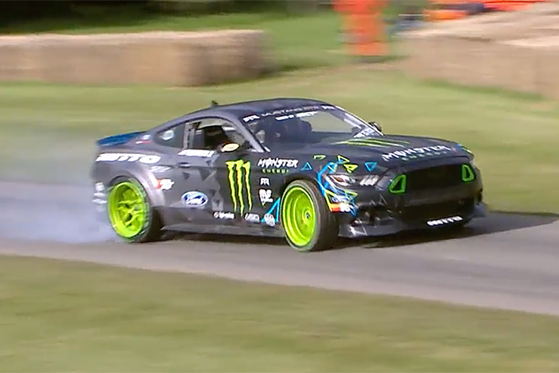 Watch Vaughn Gittin's Ford Mustang RTR Get Very Sideways at Goodwood