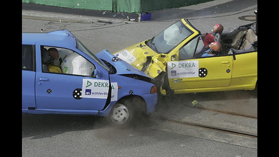 Cabrios im Crash: Wie sicher sind die kleinen Spaßmacher?
