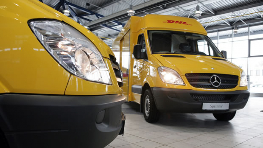 Deutsche Post DHL preferisce furgoni Mercedes