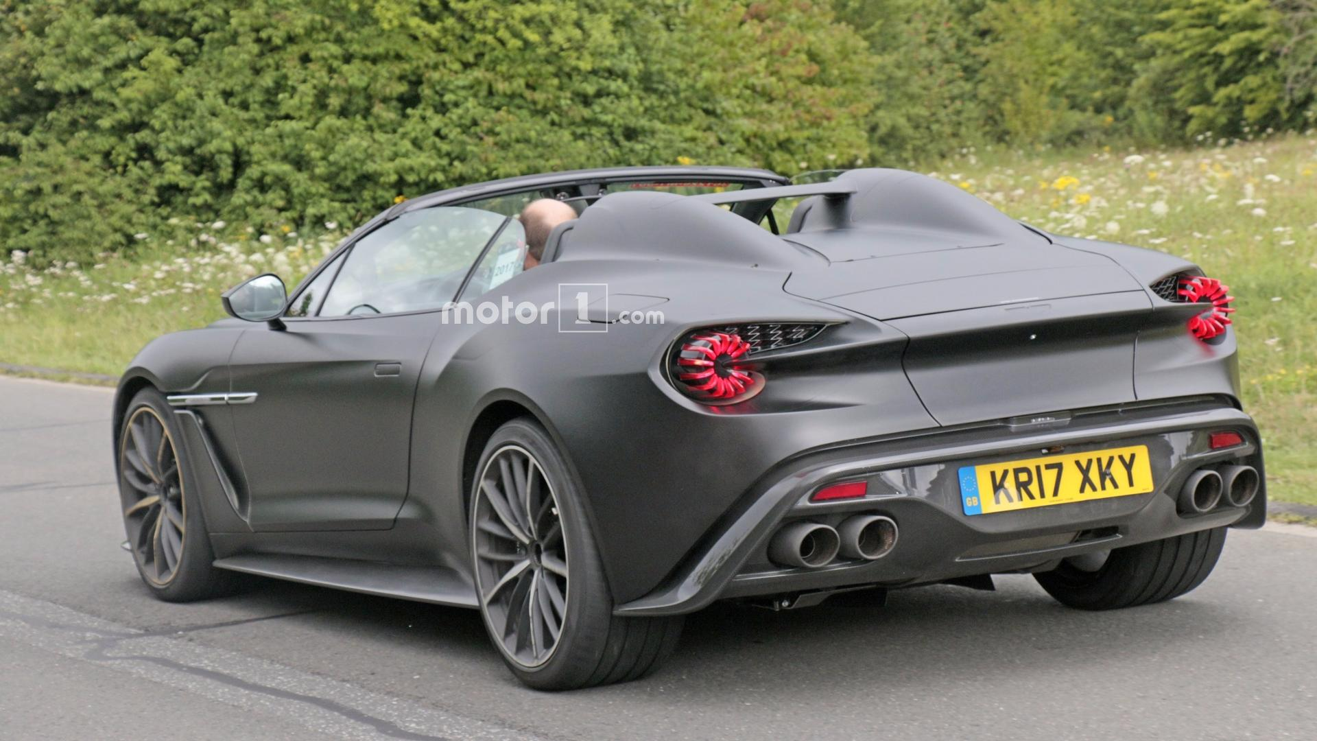 Aston Martin Vanquish Zagato Speedster Spied Undisguised