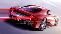 New Ferrari Enzo artist sketch