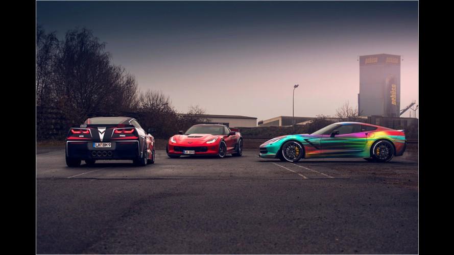 Bunte Power-Corvetten von BBM Motorsport