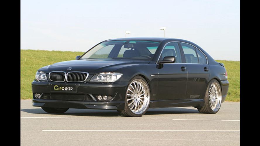 Weiß-blauer Riese: G-Power tunt 7er BMW auf 550 PS