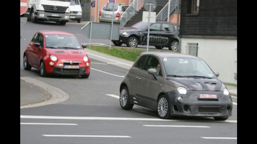 180 PS? Erlkönig vom neuen Fiat 500 Top-Abarth erwischt