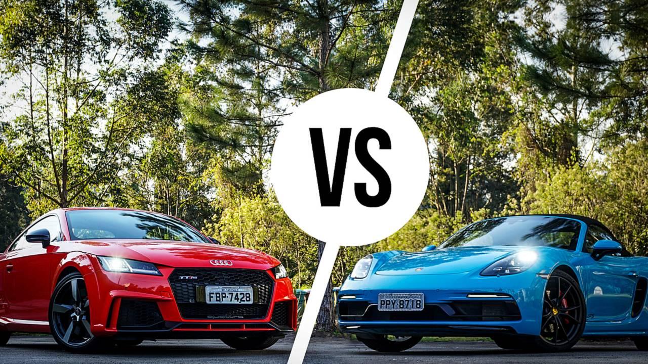 Comparativo Audi TT RS x Porsche 718 Boxster GTS