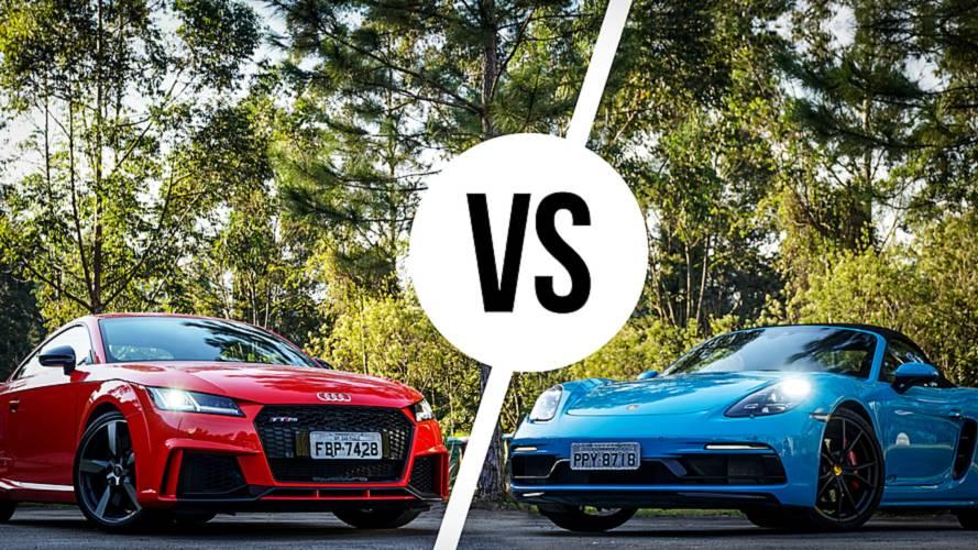 Comparativo Porsche 718 Boxster GTS x Audi TT RS: Terapia de grupo
