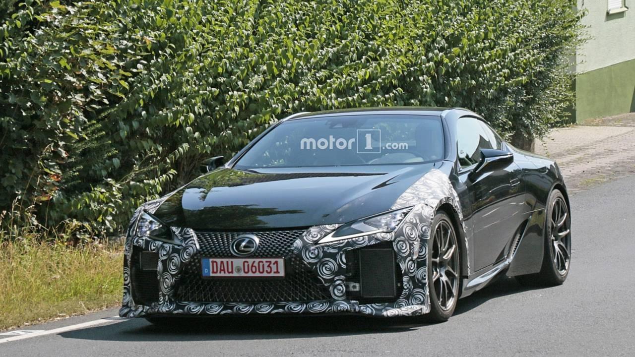 Lexus LC F spy photo