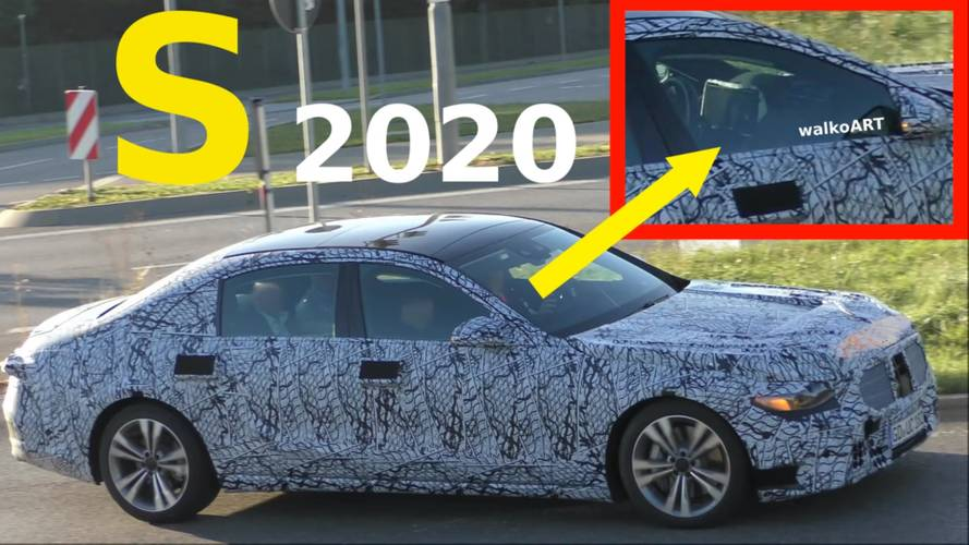 2020 Mercedes S-Class Spied With Massive Driver's Display