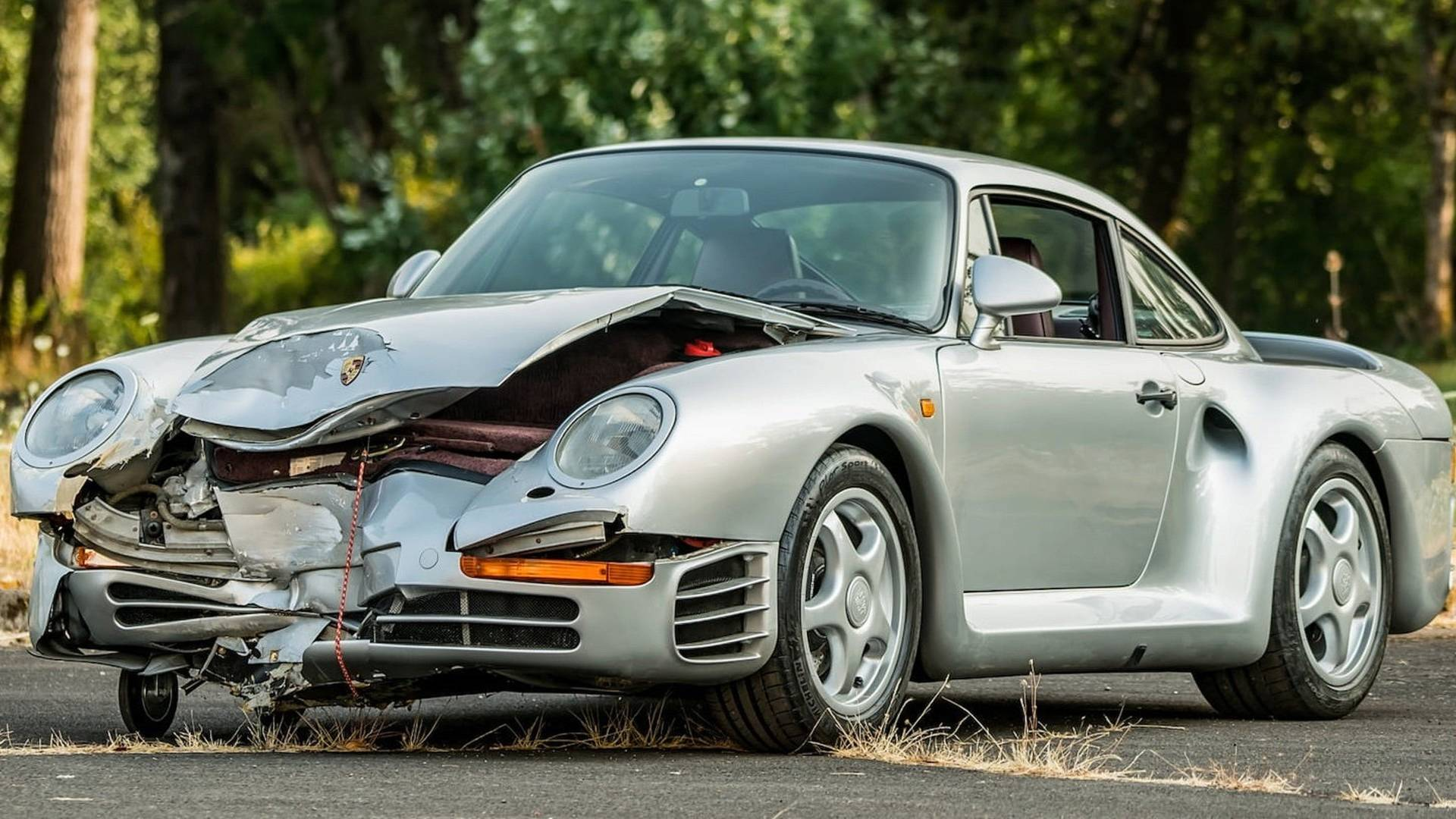 Busted Up Porsche 959 Sold At Auction For $425,000
