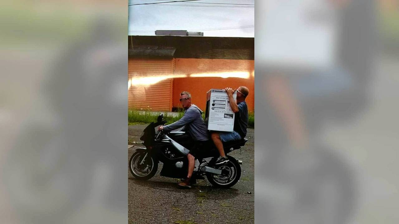 Fish Tank Felons Use Motorcycle for Getaway