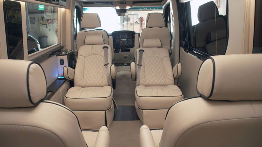 This Posh Mercedes Sprinter Has Its Own Bathroom And Kitchen