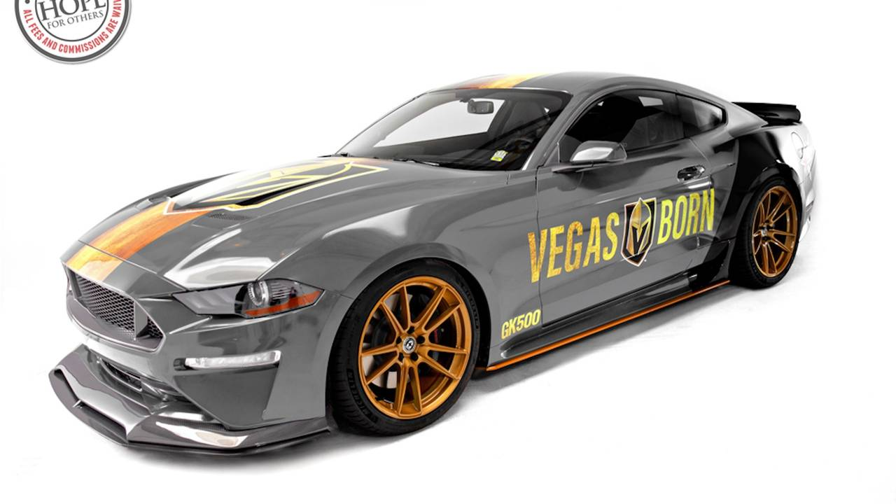 Stay Golden Ford Mustang Gt Gets Vegas Hockey Makeover
