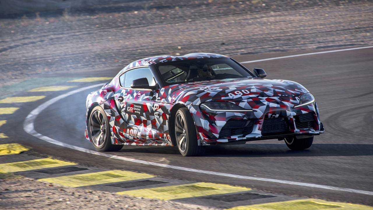 Toyota Supra, la prova del prototipo
