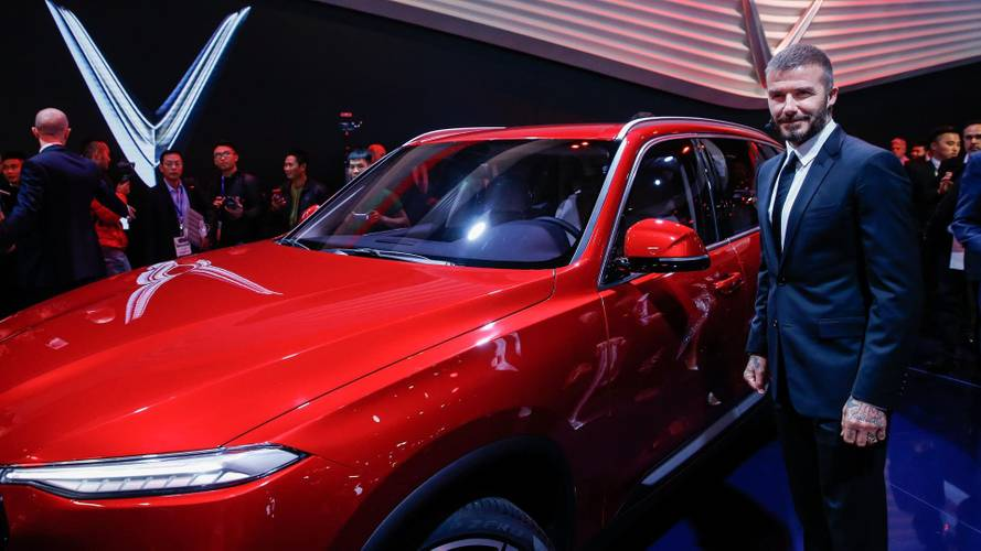 David Beckham launches VinFast at the Paris Motor Show