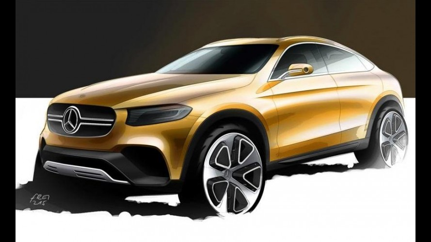 Mercedes mostra primeiro esboço do GLC Coupé, futuro rival do BMW X4