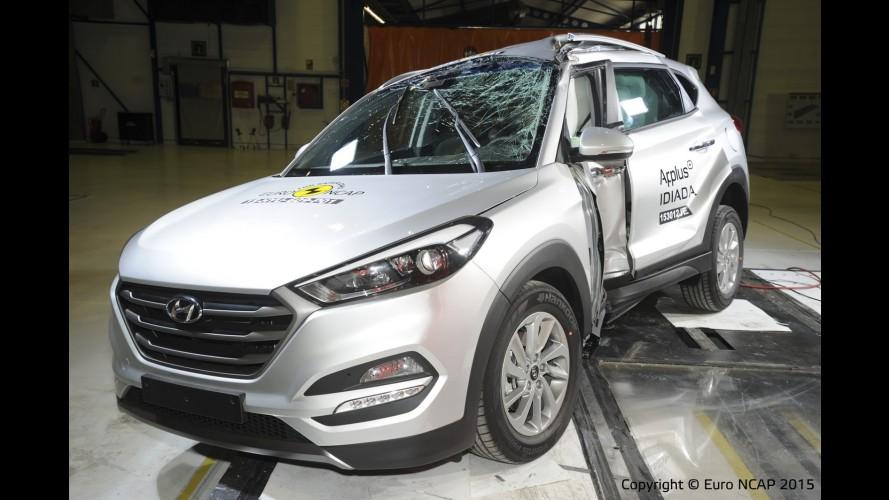 Novo Hyundai Tucson 2016 alcança cinco estrelas nos testes do EuroNCAP