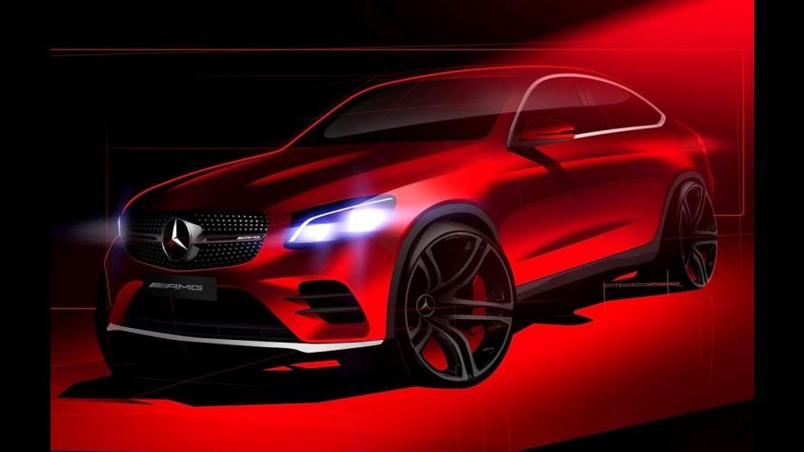 Mercedes mostra primeiro teaser do GLC Coupe poucas horas antes da estreia