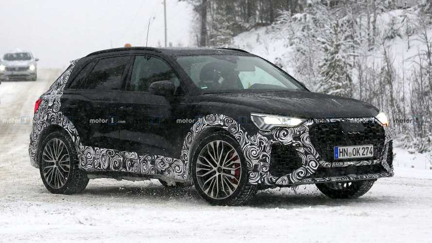 2020 Audi RS Q3 spotted testing in heavy snow