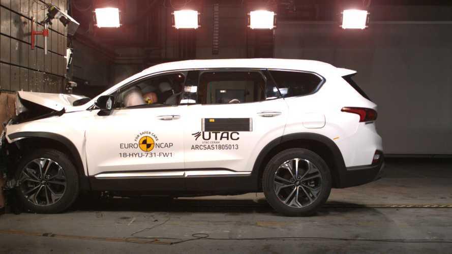 Hyundai Santa Fe, il crash test Euro NCAP