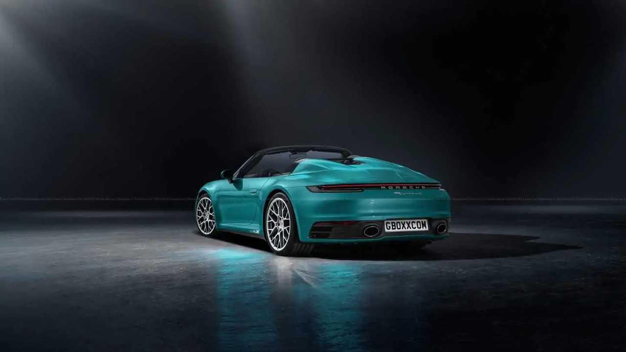 2020 Porsche 911 Convertible Fan Render